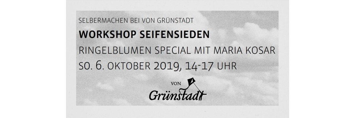Workshop Seifensieden Ringelblumenseifen mit Maria Kosar am 6. Oktober 2019 - Workshop Seifensieden Ringelblumenseifen mit Maria Kosar am 6. Oktober 2019