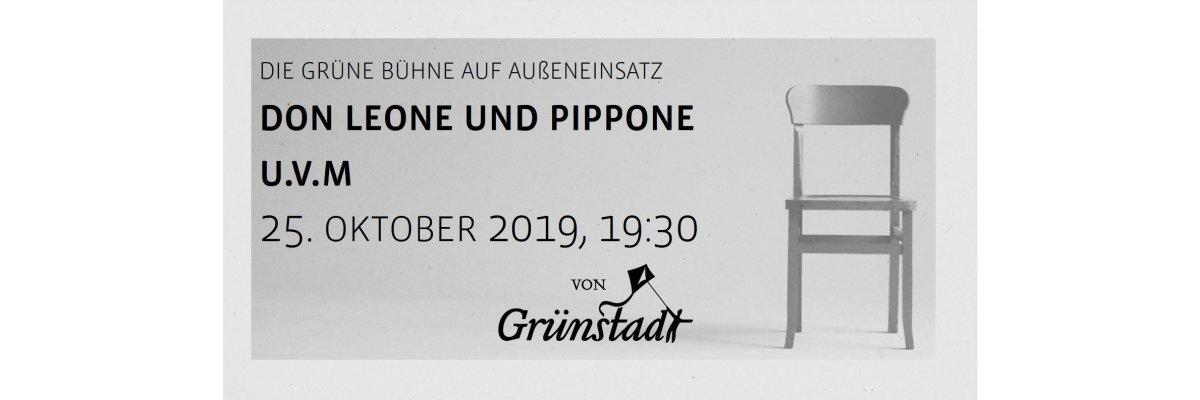 Die Grüne Bühne von Grünstadt im Yogazentrum Essen - Don Leone und Pippone 25. Oktober 2019 - Die Grüne Bühne von Grünstadt im Yogazentrum Essen - Don Leone und Pippone 25. Oktober 2019