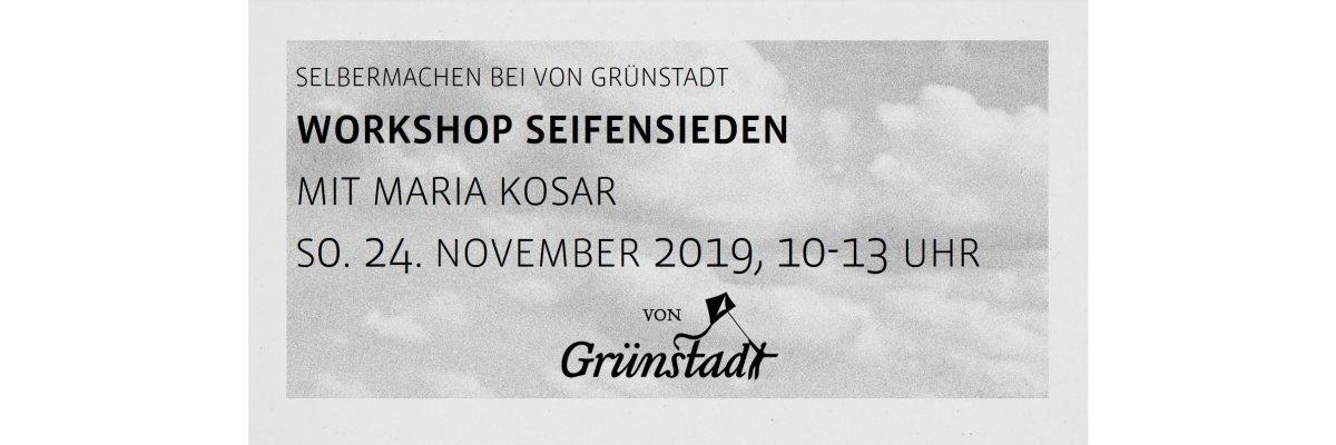 Workshop Seifensieden Olivenseifen mit Maria Kosar am 24. November 2019 - Workshop Seifensieden Olivenseifen mit Maria Kosar am 24. November 2019
