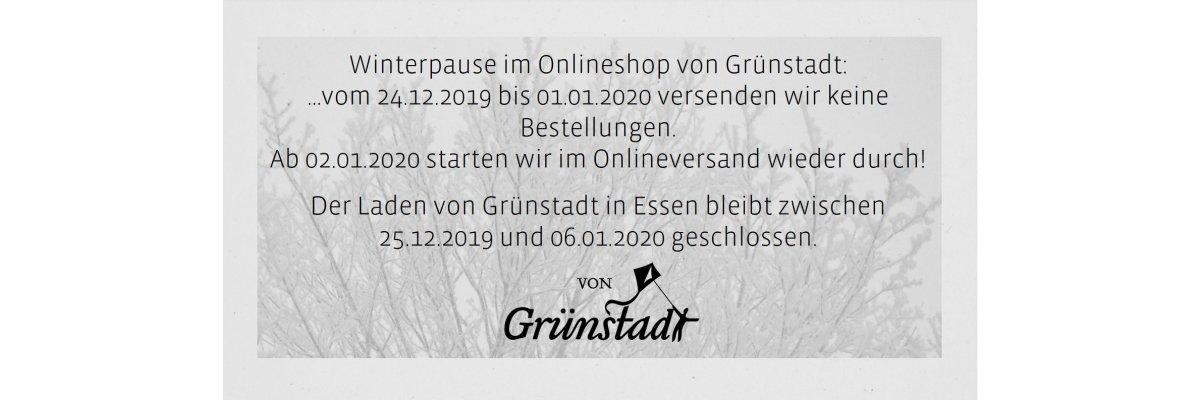 Winterpause bei von Grünstadt - Winterpause bei von Grünstadt