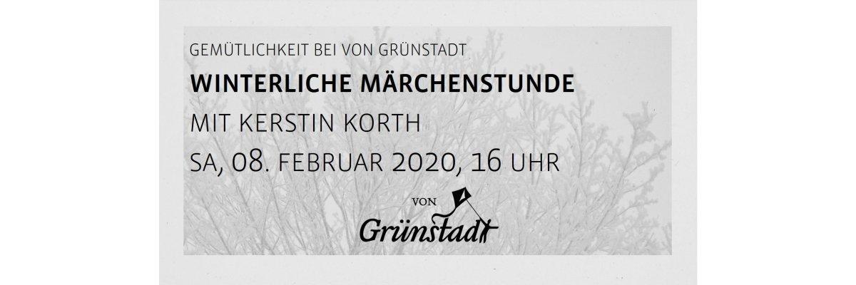 Winterliche Märchenstunde bei von Grünstadt mit Kerstin Kurt 08. Februar 2020 - Winterliche Märchenstunde bei von Grünstadt mit Kerstin Kurt 08. Februar 2020