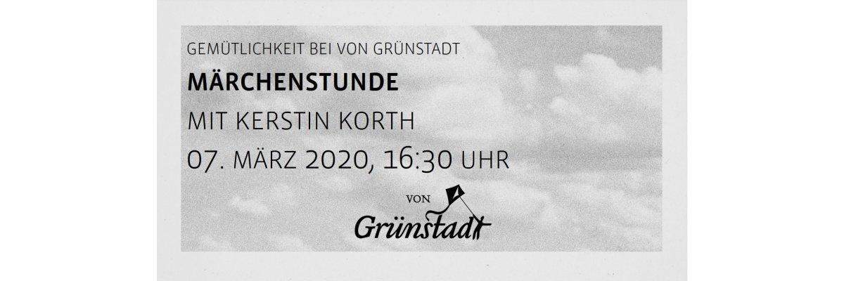 Märchenstunde bei von Grünstadt mit Kerstin Kurt 07. März 2020 - Märchenstunde bei von Grünstadt mit Kerstin Kurt 07. März 2020