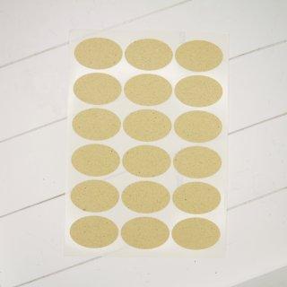 Grasetiketten oval 63,5 x 42,3 mm Bogen A4 mit 18 Etiketten