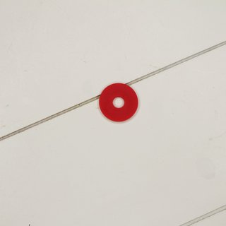 Ersatzgummi rot für Bügelverschluss