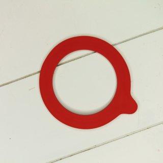 Ersatzgummi Gummidichtung rot für Bügelgläser 68 x 94 mm