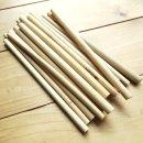 Bambus Strohhalme (10 Stück) mit Reinigungsbürste