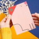 Noull Popup Grußkarte Postkarte Glücksschwein