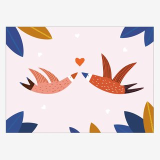 Noull Grußkarte Postkarte Love