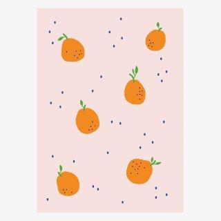 Noull Grußkarte Postkarte Orangen