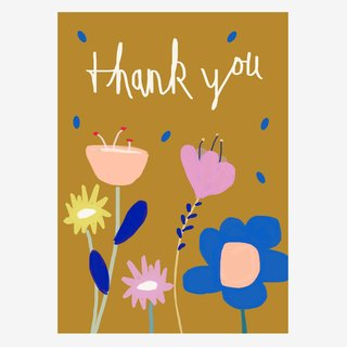 Noull Grußkarte Postkarte Thank You