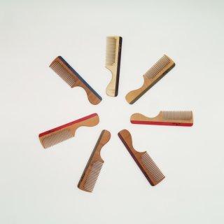 Griffkamm, Holz, bunt, mittel, 16 cm