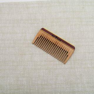 Mini-Taschenkamm, Holz, bunt, mittel, 8 cm