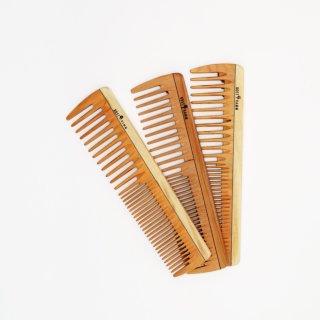 Frisierkamm, Holz, breit-mittel, 19 cm