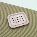 Emaille Seifenschale zweiteilig zum Stellen, rosa