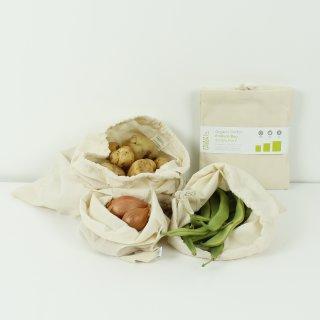 Einkaufsbeutel aus Biobaumwolle 3er Set S / M / L