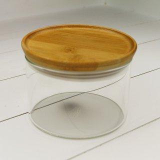 Vorratsdose aus Glas mit Holzdeckel 400 ml