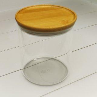 Vorratsdose aus Glas mit Holzdeckel 800 ml