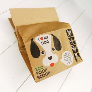 I Love My Dog Papier Hundekottüte aus Recyclingpapier 20 Stück