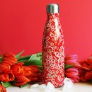 Qwetch Thermosflasche aus Edelstahl - 500 ml - Flowers Red