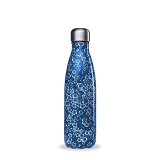 Qwetch Thermosflasche aus Edelstahl - 500 ml - Flowers Blue