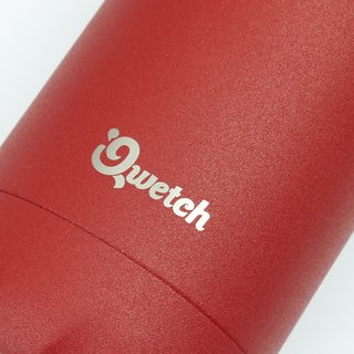 Qwetch Thermosflasche aus Edelstahl - 500 ml - Granite - Spicy Red