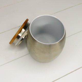 ECOtanka Cup aus Edelstahl mit Bambusdeckel 0,35 ml