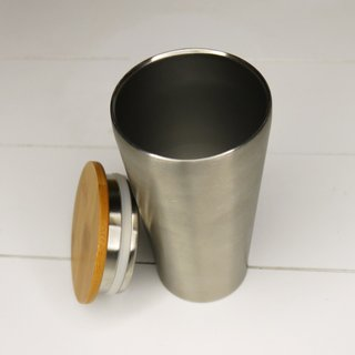 ECOtanka Chill Mate aus Edelstahl mit Bambusdeckel 0,35 ml