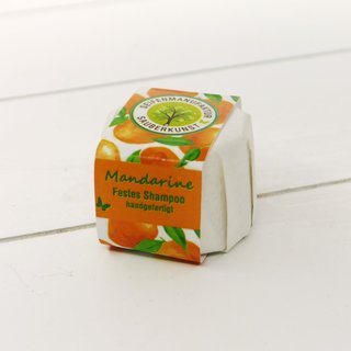Sauberkunst festes Shampoo Mandarine