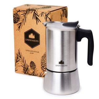 Gronenberg Edelstahl Espressokocher 6 Tassen, 300 ml