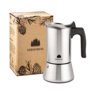 Gronenberg Edelstahl Espressokocher 4 Tassen, 200 ml
