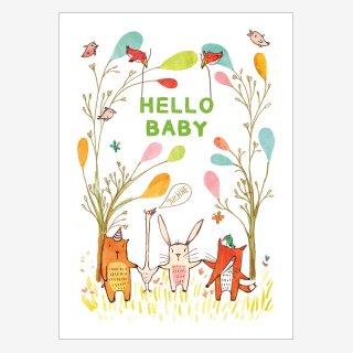Noull Grußkarte Postkarte Hello Baby
