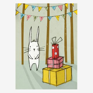 Noull Grußkarte Postkarte Hase Geburtstag
