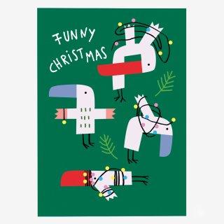 Noull Grußkarte Postkarte Funny Christmas