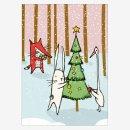 Noull Grußkarte Postkarte Weihnachten im Wald